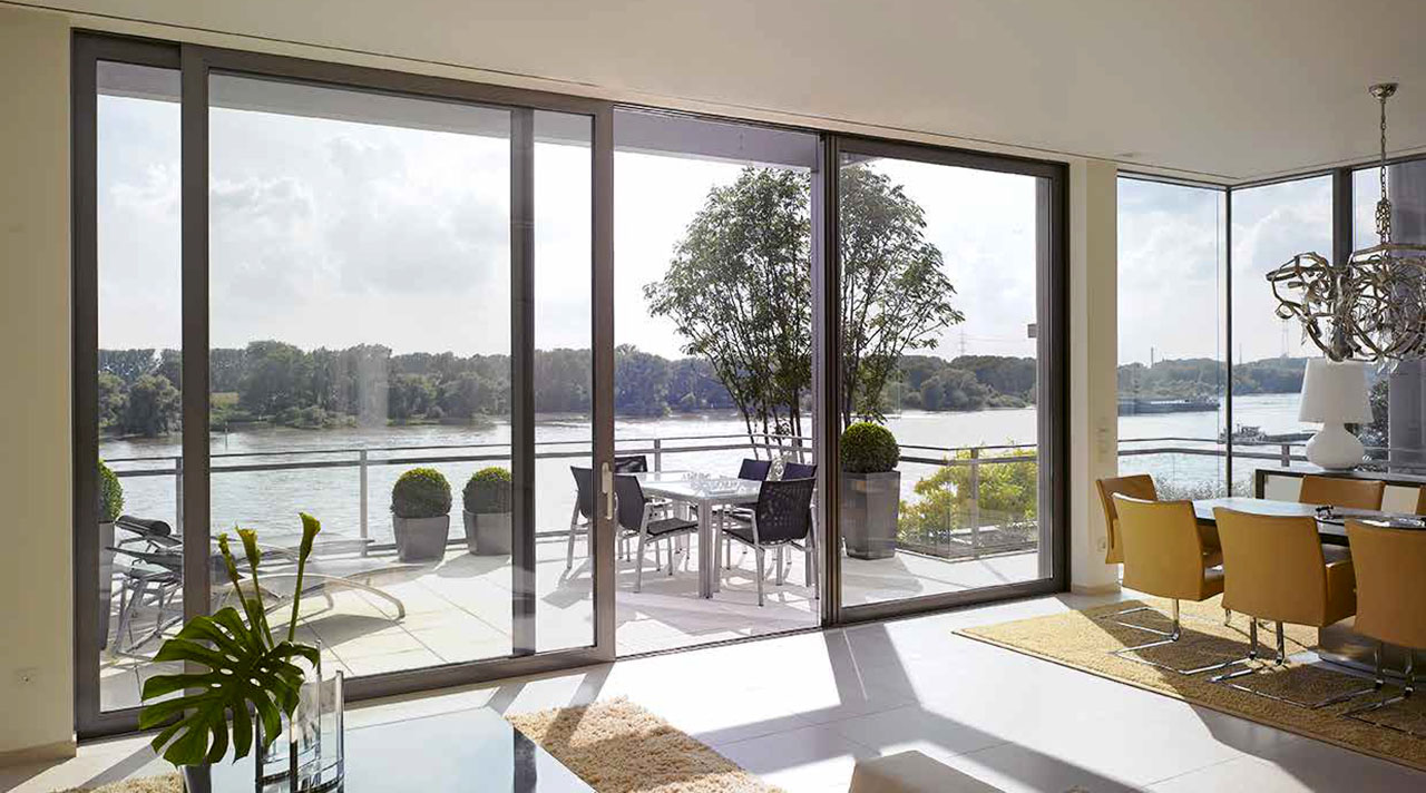 Portfolio-Fotos von Aluminium Fenster und Aluminium Schiebeanlagen - Alumore 60, Alumore 68 und Alumore 78