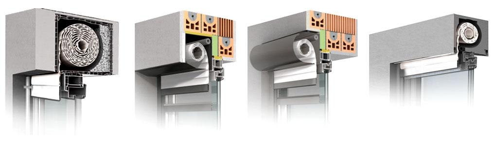 Das Bild zeigt das Sortiment von Rolladen kaufen - Rolladen Comfort Maxtherm Visio Ak-Flex.
