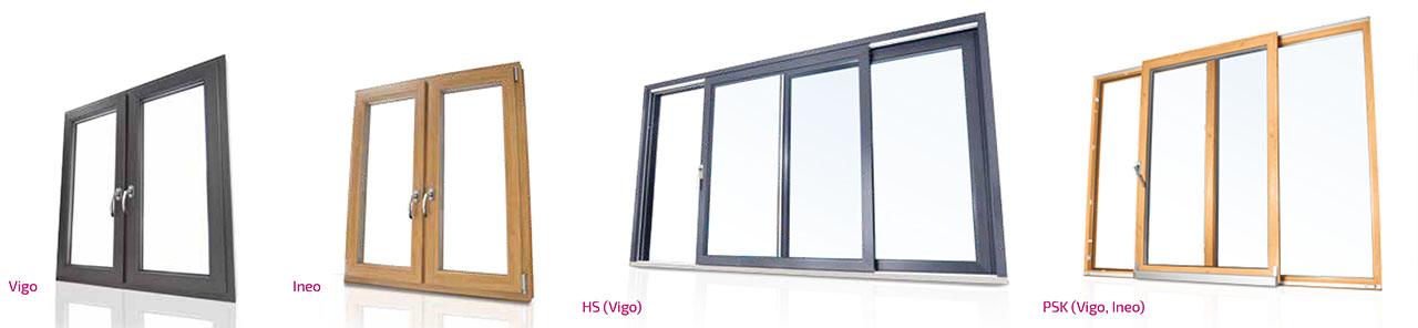 Veka Fenster INEO und VIGO - Veka Schiebeanlagen PSK und HS.